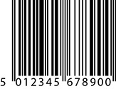 EAN-13 barcode used for point of sale