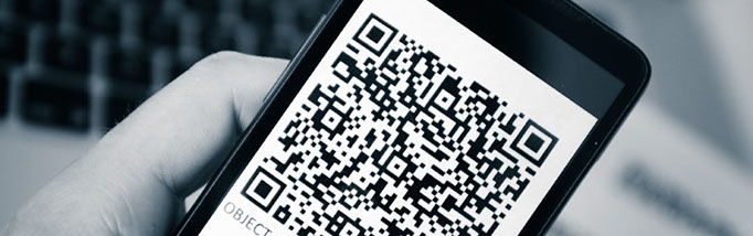QR code on mobile phone